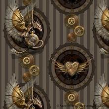 Clockwork Dragon fabric