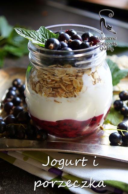 Jogurtowe śniadanie z czarną porzeczką