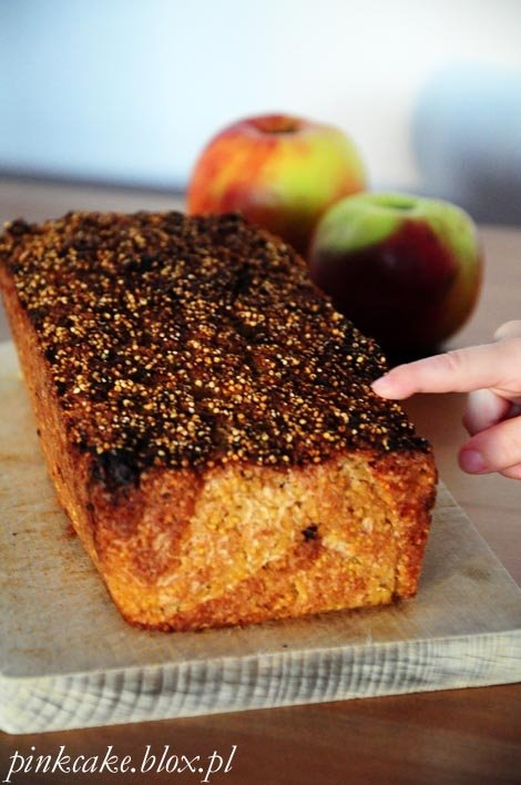 Ciasto z kaszy jaglanej i jabłek - wege, bez glutenu