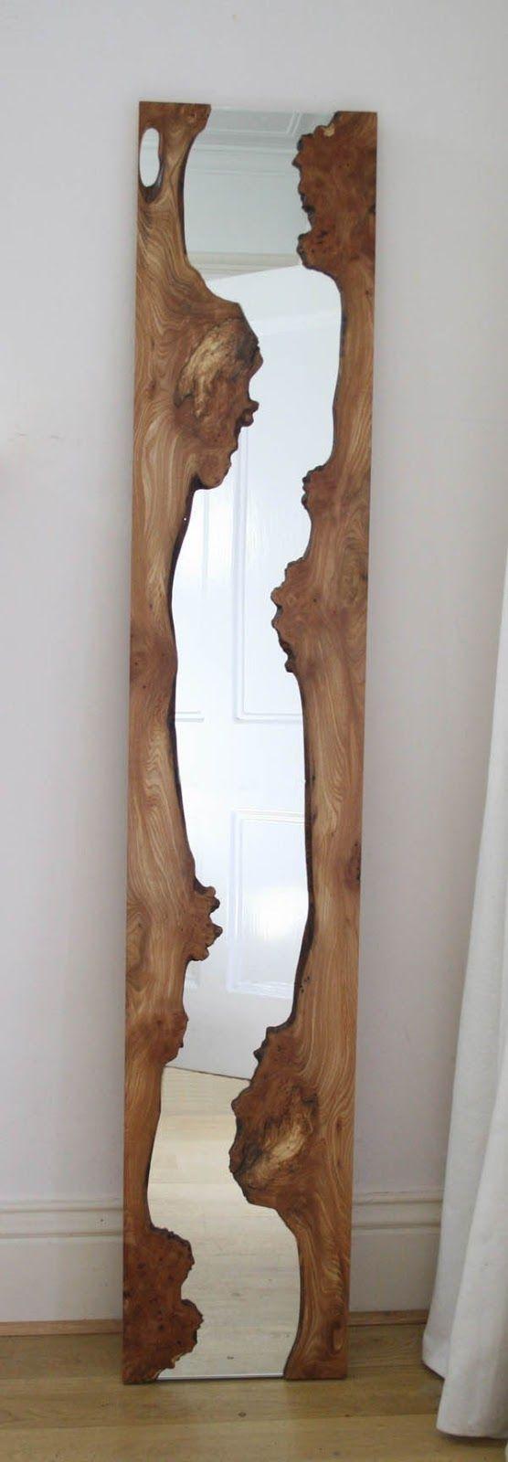 Lustro w drewnie, rama lust...