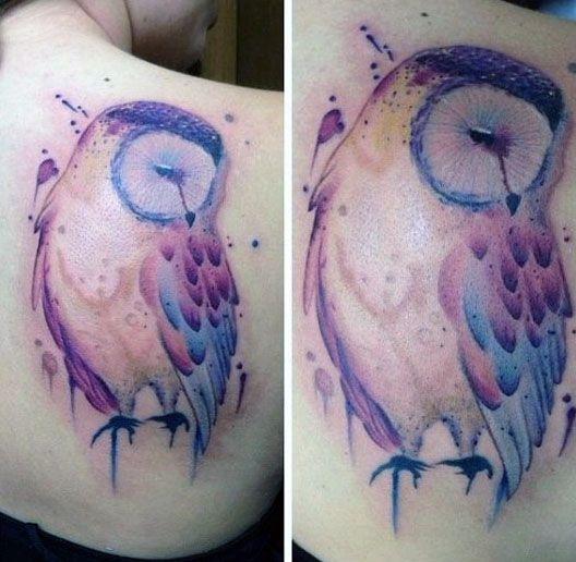 Tatuaże Damskie Niesamowita Sowa Na Tatuaże Zszywkapl
