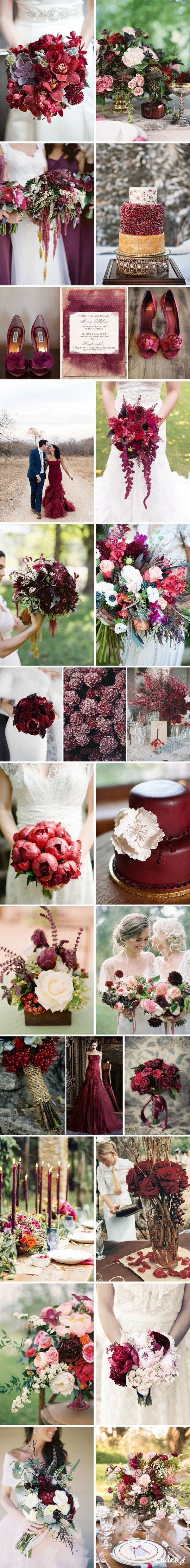 Wesele / ślub w kolorze bordo! :)