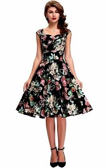 Sukienka w stylu pinup. lejdi.sklep.pl Sukienka vintage