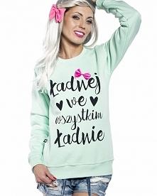 Super bluza z napisem Ładnej we wszystkim ładnie  Jesteś ładna?:)