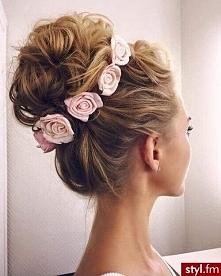 fryzura ślubna :)