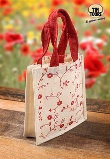 Biało - czerwona torebka na prezent dla najbliższej osoby od koszyki.net.pl
