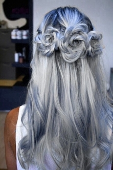 GREY/BLUE/HAIR