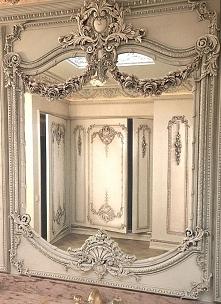 Piękne, zdobione lustro, bogato zdobiona rama lustra, lustro ozdobne, lustro ...