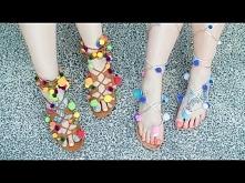 DIY: Sandały z pomponami na lato! ♡ Red Lipstick Monster ♡