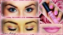 Betty's Make-up  Valentine's day Make-up <3 Pink overload! Pink ombre lips, eyes and nails <3 loving it though! :D