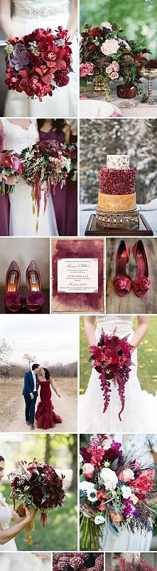 Wesele / ślub w kolorze bor...