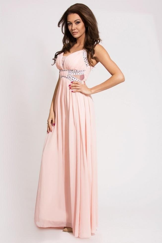Elegancka długa suknia ozdobiona kamieniami.  Collection Eva&Lola Sklep Allettante.pl Moda damska, Sukienki