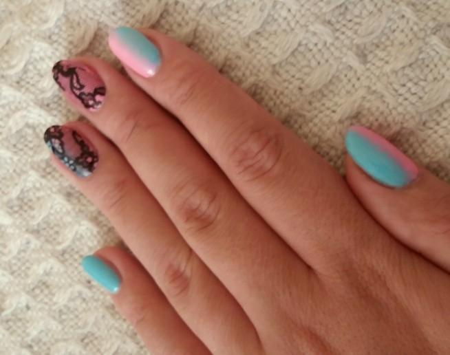 nails....hybryda#semilac#