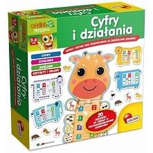 Nowość w naszym sklepie! Wygląda przesympatycznie:)  Puzzle Lisciani P50697 - Cyfry i Działania dla Dzieci od 3-6 lat.   Lisciani polega na łączeniu pierwszych cyferek znajdując...