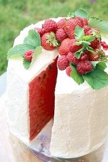 TORT Z ARBUZA - jak zrobić tort z arbuza - klijnij w zdjęcie i zobacz na blogu