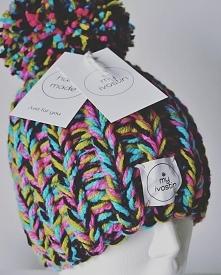 Beanie Marine - Hand Made by My Ivostin  Ręcznie robione czapki wełniane. Zap...
