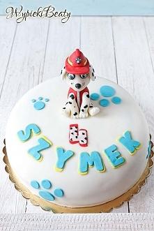 Urodzinowy tort z Psim Patrolem
