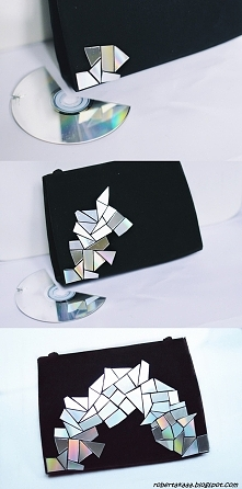 Torebka + stare płyty CD i ...