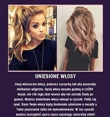 Uniesione włosy - Super trick na większą objętość!!!