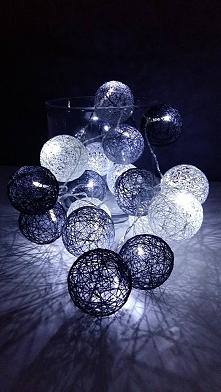 Cotton ball light ręcznie robione