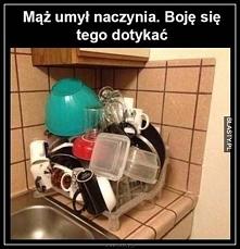Kiedy mąż myje naczynia