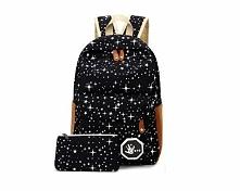 Plecak czarny tornister w gwiazdki. Kliknij w zdjęcie a przekieruje Cię do sklepu :)