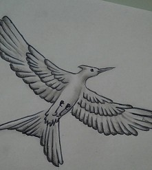 Kosogłos <3 Igrzyska Śmierci są najlepsze :3 rysunek ołówkiem  Nie jest to dzieło sztuki ale może kogoś zainspiruje :*