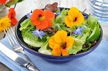 KWIATY NA TALERZU  BRATEK ogrodowy może być ozdobą ciast, sałatek, serów. Kwi...