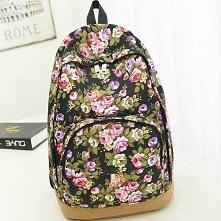 Plecak vintage w kwiaty, baardzo oryginalny wzór w tym sezonie :) kliknij w zdjęcie i zobacz gdzie można kupić !