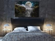 Księżyc w nowiu - nowoczesny obraz do sypialni