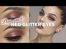Done Quick- Red glitter eye...