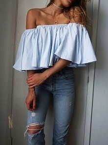 Błękitna, luźna bluzka :)