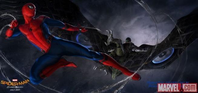 "Grafika koncepcyjna ""Spider-man: Homecoming""."