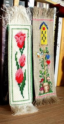 Zakładki do książki - haft krzyżykowy