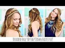 Boho Braided Half Up Half D...