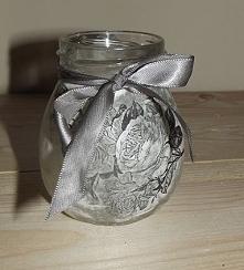 Słoiczek z różą/papier ryżowy