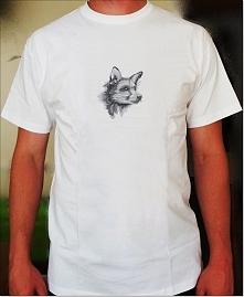 Koszulka z haftowanym liskiem