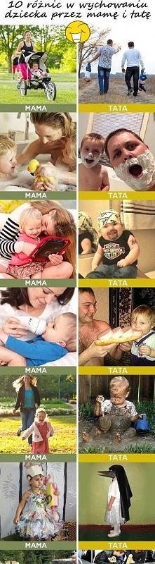 Różnice w wychowywaniu dziecka przez rodziców:)