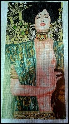 Gustav Klimt - Judyta z głową Holofernesa - haft krzyżkowy