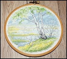 Wiosna - 4 pory roku - haft krzyżkowy