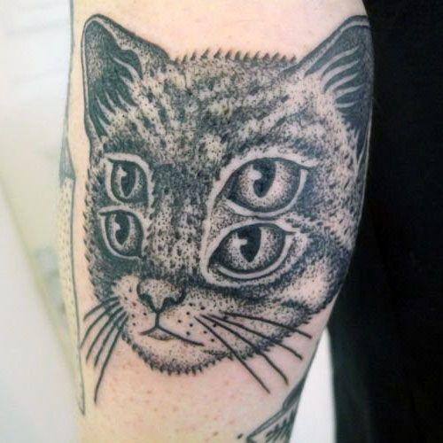 Tatuaże Iluzje Kot Na Tatuaże Zszywkapl