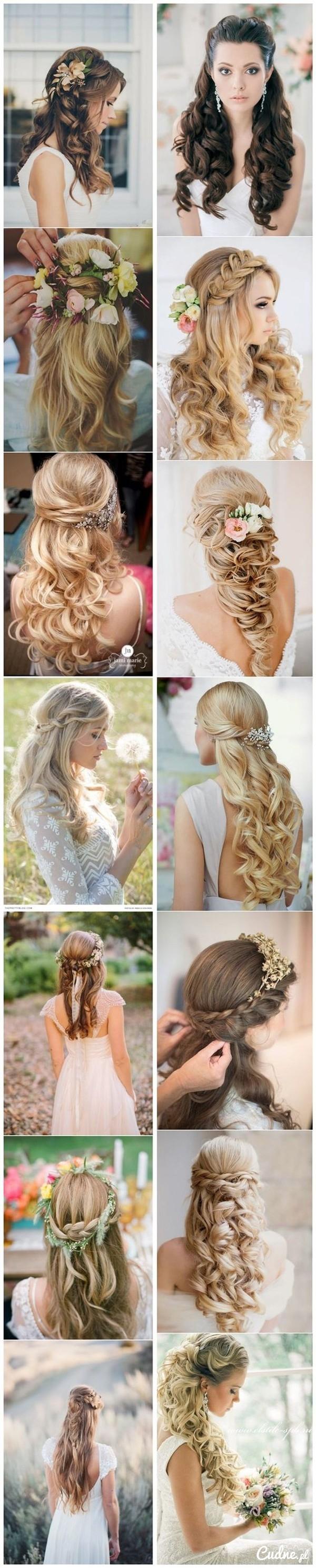 Ślubne Fryzury Włosy Rozpuszczone Na Ślub I Wesele