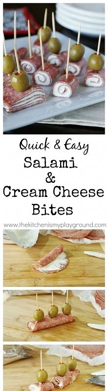 Quick Salami & Cream Cheese Bites, jak to zrobic