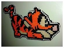 Tygrysek - magnes - haft krzyżykowy