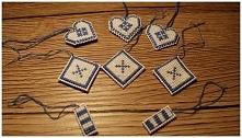 ozdoby na choinkę - haft krzyżykowy