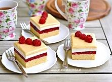 Ciasto malinowe z polewą ad...