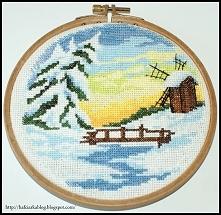 4 pory roku - ZIMA - haft krzyżykowy