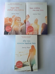 """Mam do sprzedania trylogię """"Tego lata stałam się piękna"""", książeczki raz przeczytane, stan idealny, jak nowe ;)"""