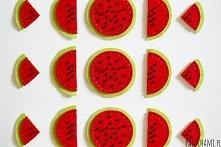 Magnesy na lodówkę z filcu :) W formi arbuzów! Zapraszamy po instrukcje na to...