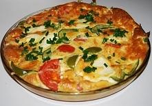 Frittata z serem i pomidorami